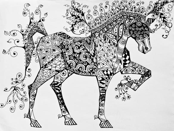zentangle-circus-horse-jani-freimann